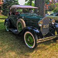 1928 Model A Ford  by Luther Fine Art