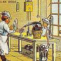 Model Kitchen, 1900s French Postcard by Science Source