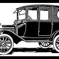 Model T Ford Sedan Pop White by David King