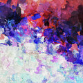 Modern Abstract Painting In Blue by Inspirowl Design