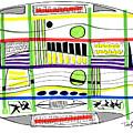 Modern Drawing Fifteen by Lynne Taetzsch