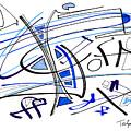 Modern Drawing Twenty-seven by Lynne Taetzsch
