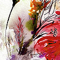 Modern Floral Poppy Pods 2 by Ginette Callaway