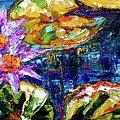 Modern Impressionist Lily Pond Reflections by Ginette Callaway