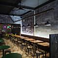 Modern Industrial Contemporary Interior Design Restaurant by Jacek Malipan