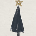 Modern Primitive Black And Gold Tree 3- Art By Linda Woods by Linda Woods