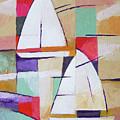Modern Sailboats Painting by Lutz Baar