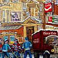 Moe's Corner Snack Bar And Diner Montreal Landmark  Restaurant Canadian Art Carole Spandau by Carole Spandau
