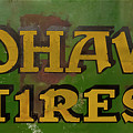 Mohawk Tires Antique Sign by Chris Flees