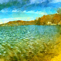 Mohegan Lake Panoramic Beach by Derek Gedney