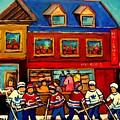 Moishes Steakhouse Hockey Practice by Carole Spandau