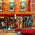 Moishes Steakhouse On The Main By Montreal Streetscene Painter Carole  Spandau  by Carole Spandau