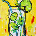 Mojito - Latin Tropical Drink Modern Art by Patricia Awapara