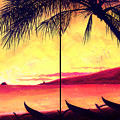 Mokulua Sundown by Angela Treat Lyon