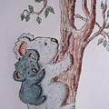 Momma And Baby Koala by Megan Walsh