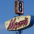 Mom's Diner At Exit 8 by Richard Reeve