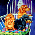 Mom's In The Kitchen - Dachshund by Lyn Cook