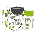 Moms Retro Kitchen Cookware by Anne Kitzman