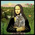 Mona Lisas Norwegian Forest Cat by Jean Batzell Fitzgerald