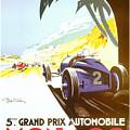 Monaco 5 Grand Prix 1933 by Nostalgic Prints