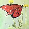 Monarch On Milkweed by Barbara Andrews