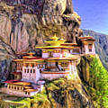 Monastery In Bhutan by Dominic Piperata