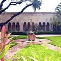 Monastery Of St. Bernard De Clairvaux Garden by Ken Figurski