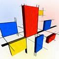 Mondrian 3d by Michael Tompsett