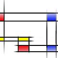Mondrian In Motion 2 by Peter Leech