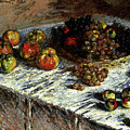Monet Claude Still Life Apples And Grapes by PixBreak Art