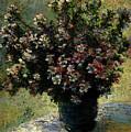 Monet Claude Vase Of Flowers by PixBreak Art