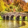 Monetcalia Catus 1 No. 9 - Monet Decides To Paint The Arched Bridge At Stourhead. L A S by Gert J Rheeders