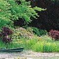 Monet's Garden Pond And Boat by Nadine Rippelmeyer
