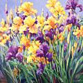 Monet's Iris Garden by Laurie Hein