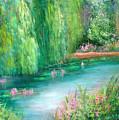 Monet's Pond by Sally Seago