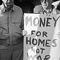 Money For Homes Not War Anti Gulf War Rally Tucson Arizona 1991 by David Lee Guss