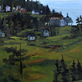Monhegan View From Lighthouse Hill by J R Baldini