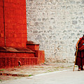Monk In Tashilhunpo Monastery Shigatse Tibet Yantra.lv by Raimond Klavins