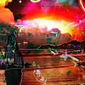 www.nospankingthemonkey.com Monkey Painted Italy On A Moon Lit Night by Catherine Lott