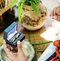 Monks Blessing Buddhist Wedding Ring Ceremony In Cambodia by Jacek Malipan