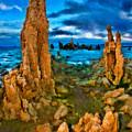 Mono Lake Tufa Blue Night by Blake Richards