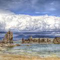 Mono Lake Tufas And Clouds by Soroush Mostafanejad
