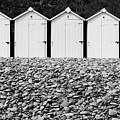 Monochrome Beach Huts by Helen Northcott