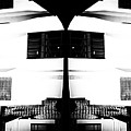 Monochrome Building Symmetry Abstract by John Williams