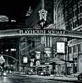Monochrome Grayscale Palyhouse Square by Frozen in Time Fine Art Photography