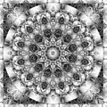 Monochrome Kaleidoscope by Charmaine Zoe