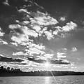 Monochrome Vintage Sunset  by Parker Cunningham