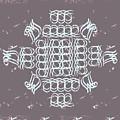 Monogram Qm Ivory Slate by Christine McCole