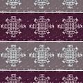 Monogram Qm Plum Wine Slate 2 by Christine McCole