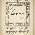 Monopoly Patent 1935 Vintage Border by Terry DeLuco